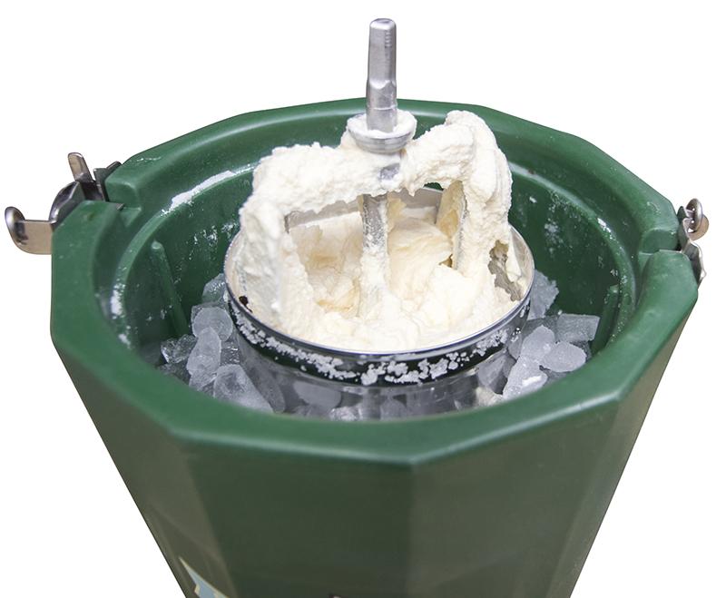 Homemade Ice cream in bucket